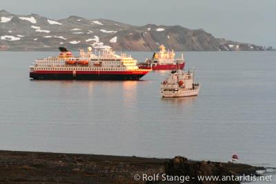 Ships in Antarctica