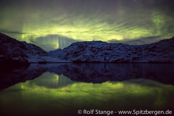 Northern light. Scoresbysund, East Greenland