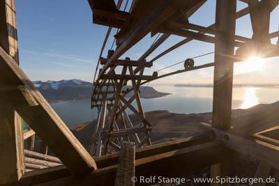 Kohlebergwerk bei Longyearbyen (Hiorthhamn)
