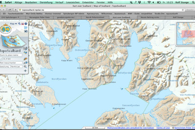 digital map Spitsbergen