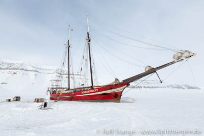 Noorderlicht in Tempelfjord: ship in the ice
