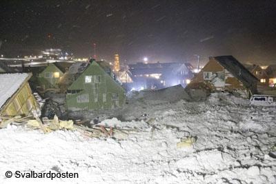 Longyearbyen Lawine
