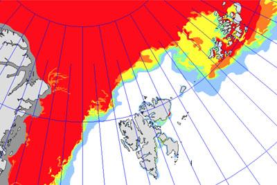Eiskarte Spitzbergen
