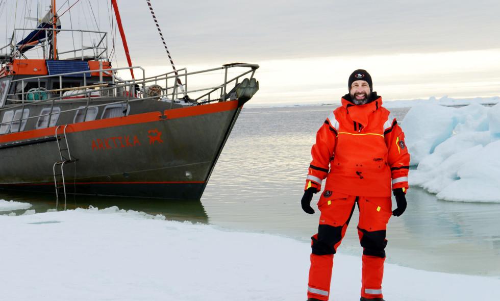 Gilles Elkaim auf der Arktika