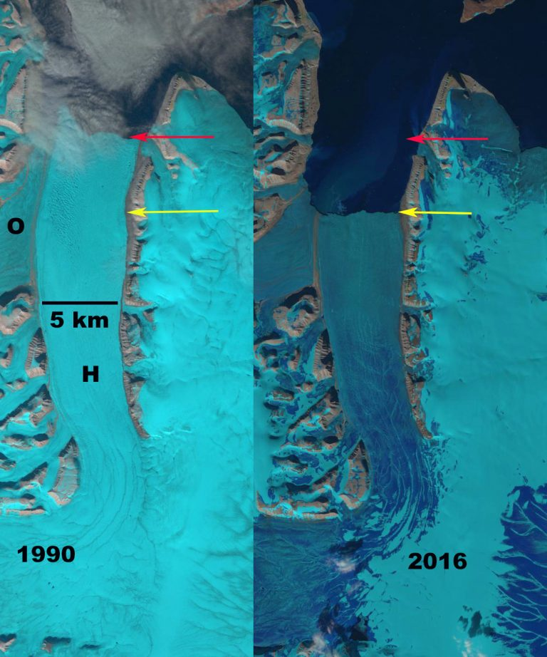 Landsat imagery of Hinlopenbreen