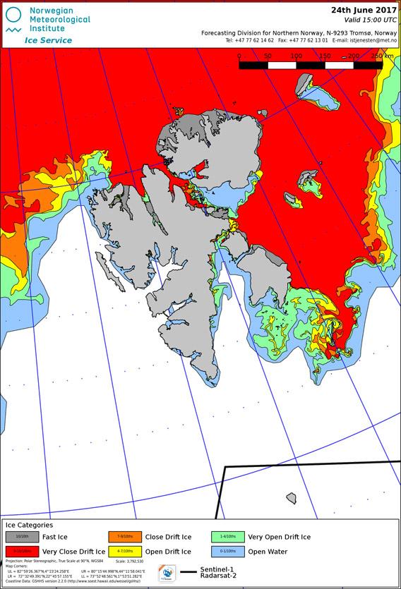 Eiskarte Svalbard 2017-06-24