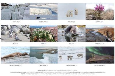 Spitzbergen-Kalender 2018