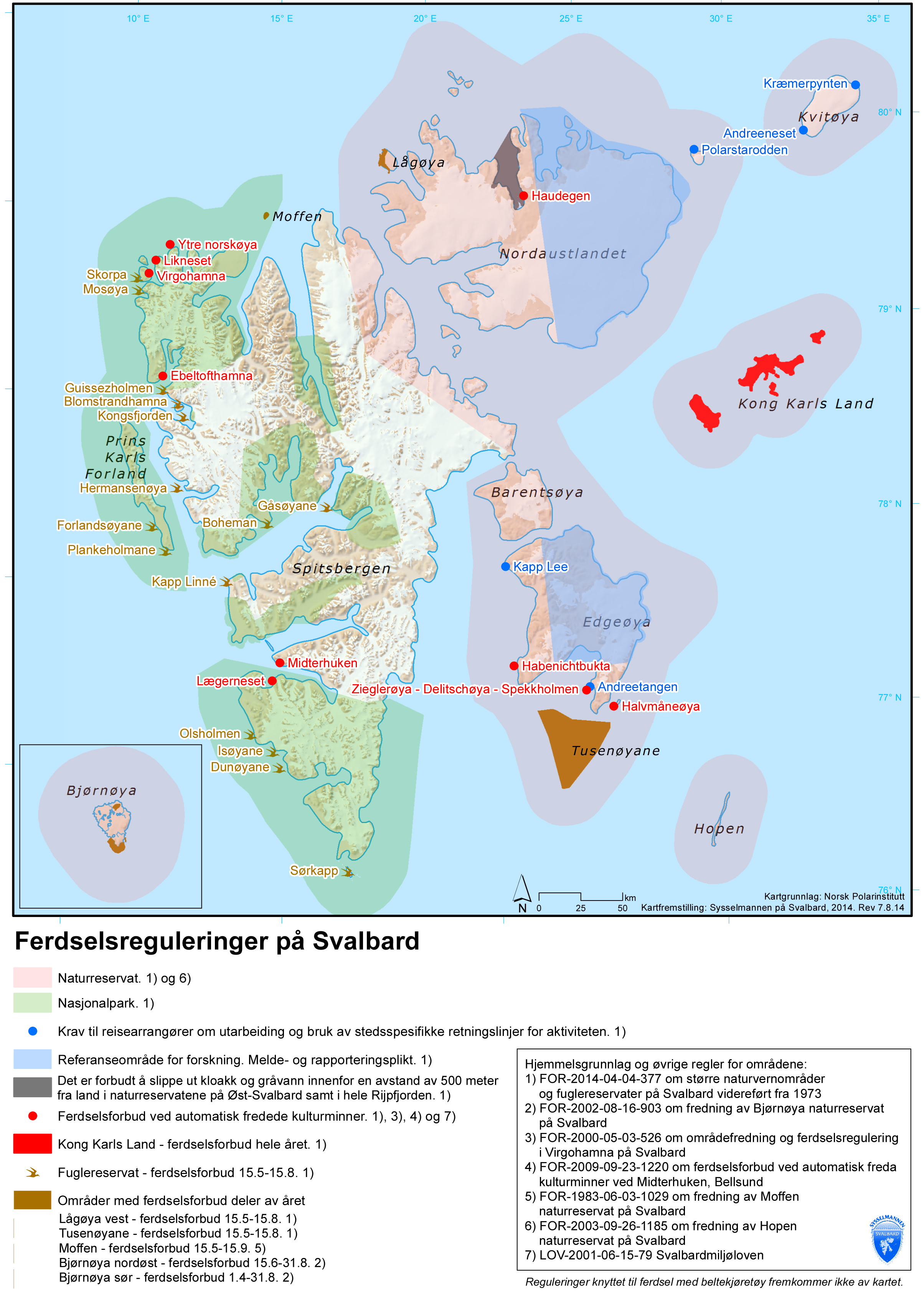Svalbard: Schutzgebiete, Gesetze, Sicherheit, Waffe ...