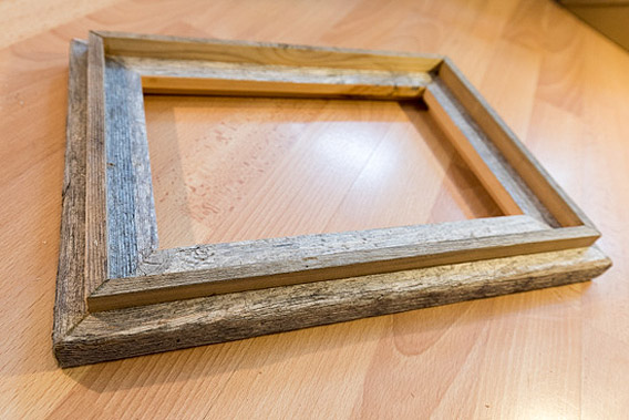 Picture frame of Spitsbergen driftwood