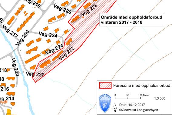 Sperrung Longyearbyen 2017 Lawinengefahr