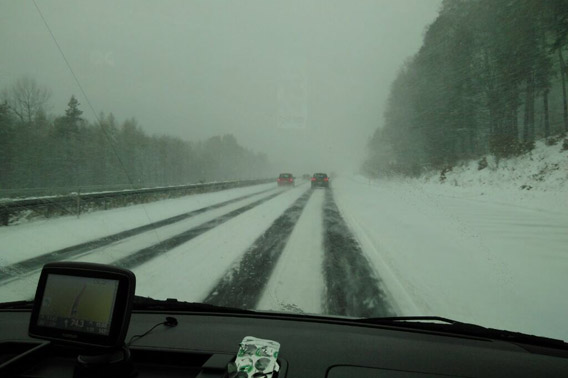 Arktis auf der Autobahn
