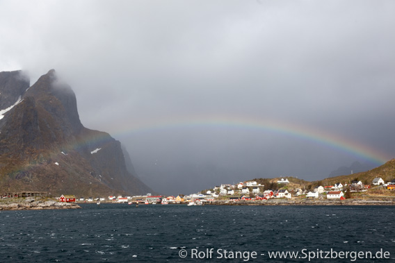 Rainbow over Reine, Lofoten