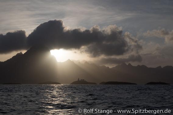 Sonnenuntergang hinter Austvågøy, Lofoten