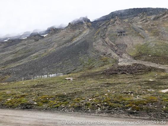 Rutschung Longyearbyen Friedhof