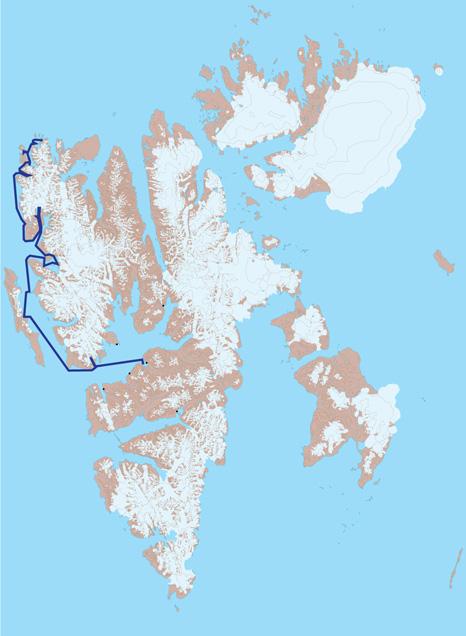 Spitsbergen kart 1 - fra Isfjorden til Fair Haven