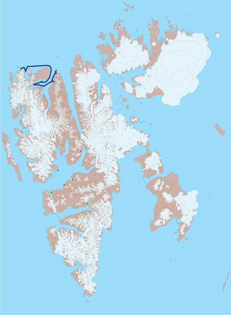 Spitsbergen Map 2 - Liefdefjord and Woodfjord