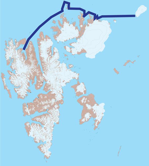 Spitzbergen Karte 2: Sjuøyane, Nordaustland, Kvitøya