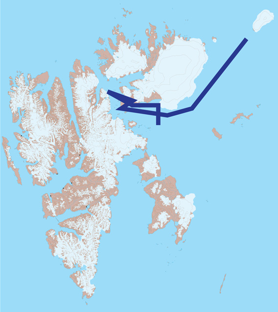 Spitzbergen Karte 3: Hinlopen