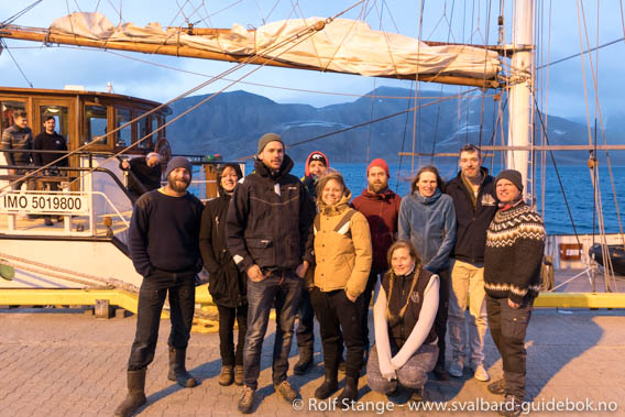 Crew of SV Antigua in Longyearbyen