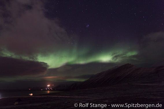 Northern lights over Adventdalen