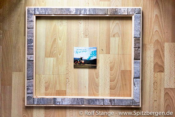 Driftwood picture frame - a piece of Spitsbergen on the wall