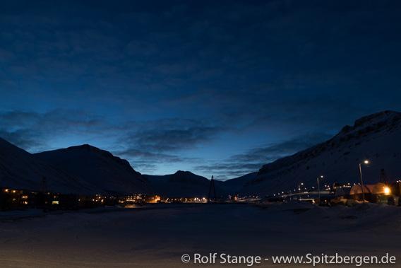 Dämmerung, Longyearbyen