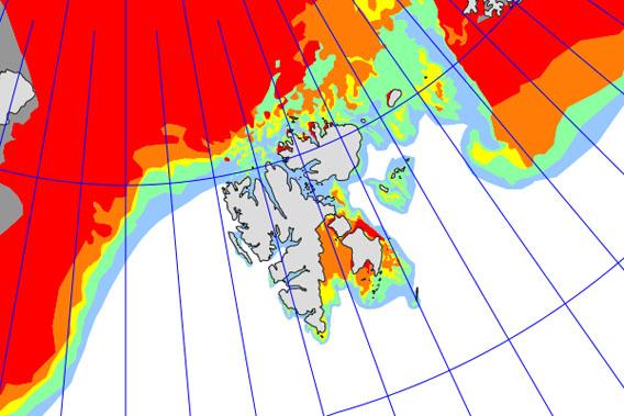 Eiskarte Svalbard