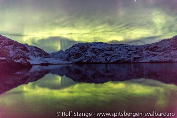 Nordlys. Scoresbysund, Øst-Grønland