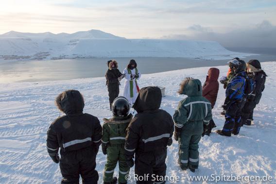 Sonnenfestwoche in Longyearbyen: Gottesdienst am Telelinken