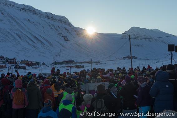 Sonnenaufgang beim Solfest, Longyearbyen