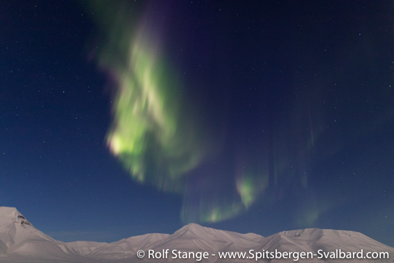 Northern light near Longyearbyen
