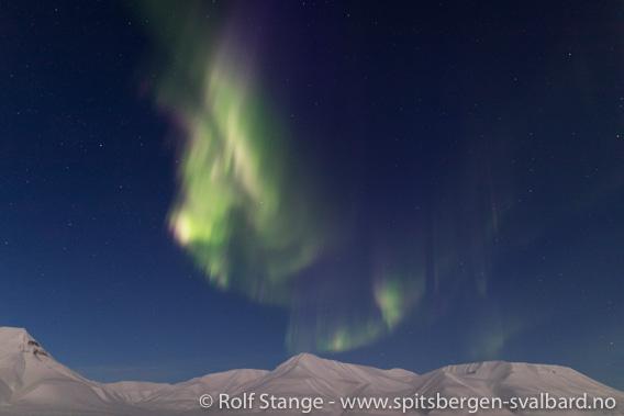 Nordlys nær Longyearbyen