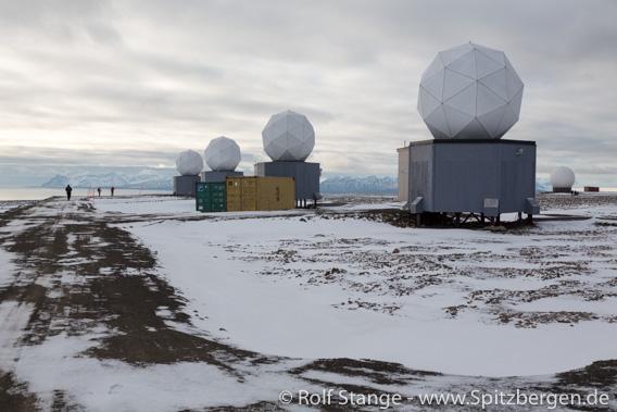 SvalSat. Platåberget bei Longyearbyen, Spitzbergen