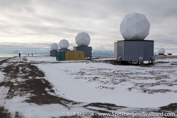SvalSat. Platåberget near Longyearbyen, Svalbard