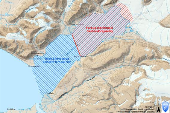 Sperrung Fjordeis Tempelfjord: Karte