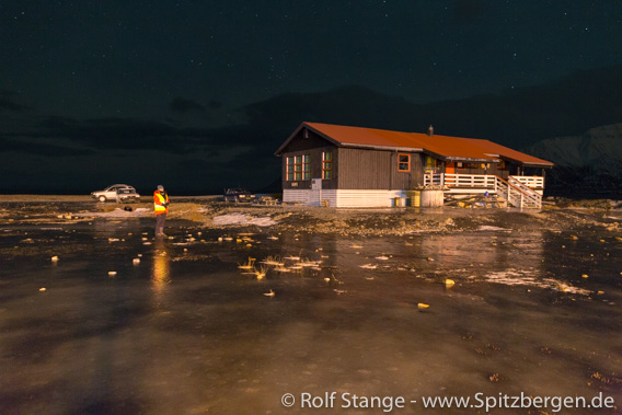 Longyearbyen Camping, Glatteis