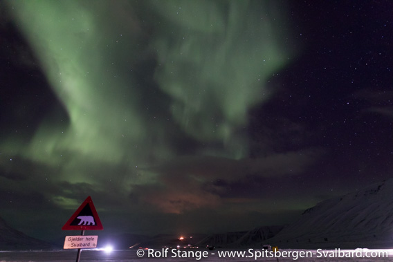 Northern light near Longyearbyen