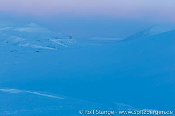 Blaues Licht, in Adventdalen