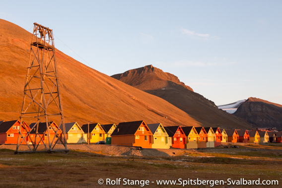 Last midnight sun in Longyearbyen
