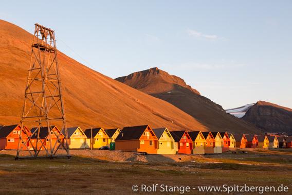 Letzte Mitternachtssonne in Longyearbyen