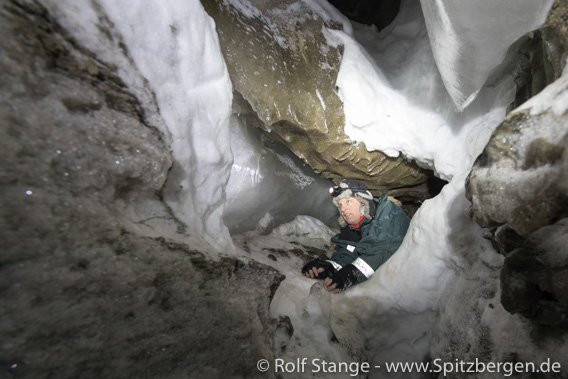 Gletscherhöhle im Longyearbreen