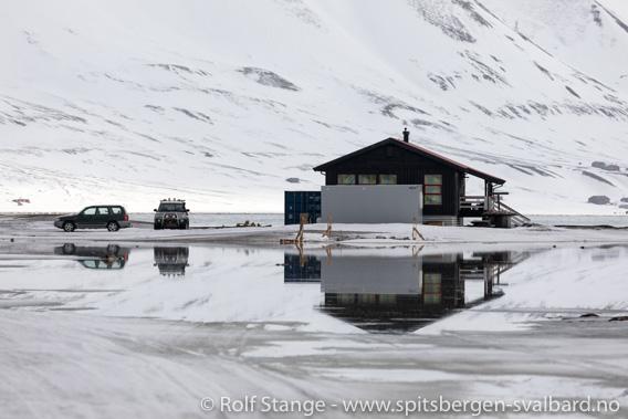 Sjø på campingplassen ved Longyearbyen