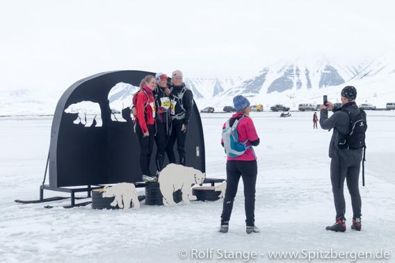 Siegerehrung Svalbard Skimarathon