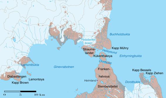 Heleysund, Ormholet, Straumsland Karte
