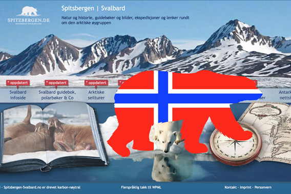 Spitzbergen.de now also in Norwegian