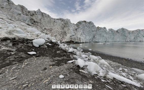 Svalbard-panorama: Markhambreen