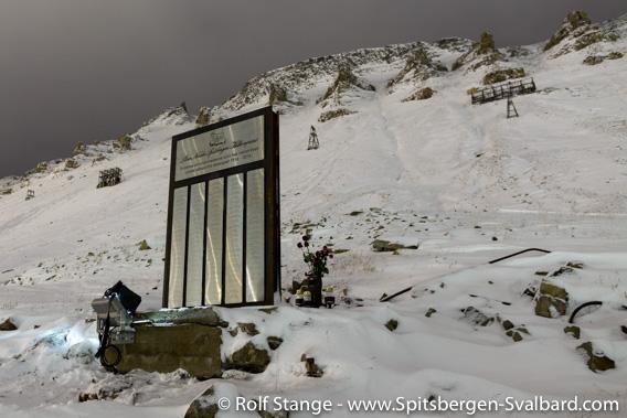 Miners' memorial, Longyearbyen
