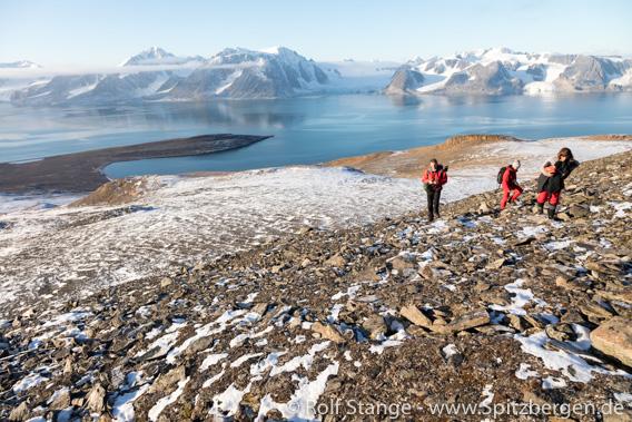 Bergwanderung, Spitzbergen im September