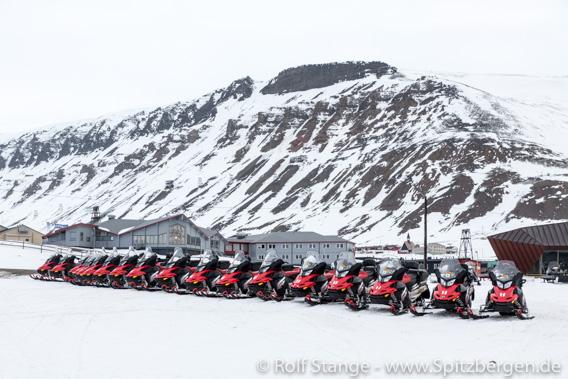 Motorschlitten Longyearbyen: stillgelegt vom Corona-Virus