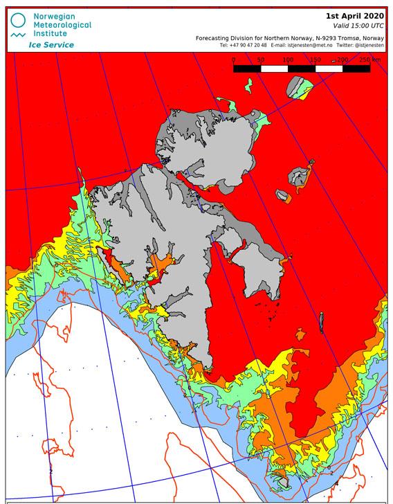 Eiskarte, Spitzbergen